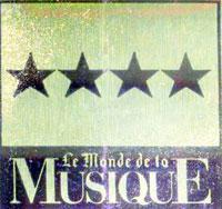 Logo Le Monde de la Musique - 4 étoiles